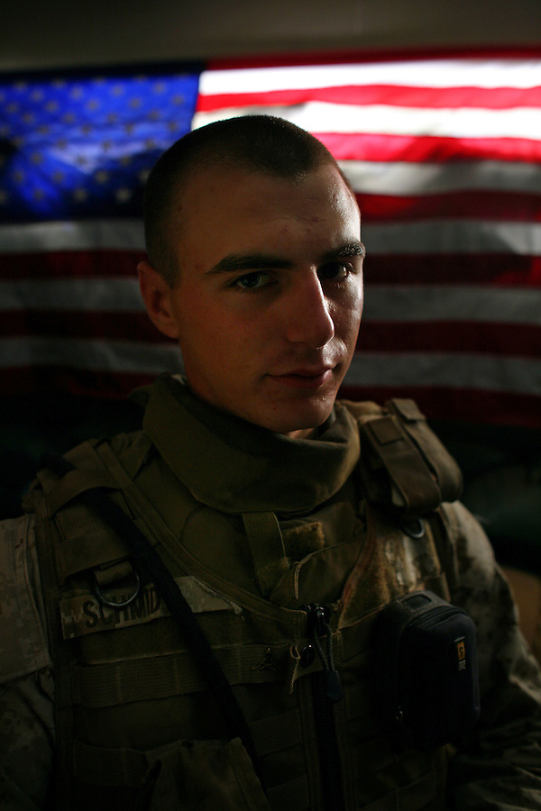 Marine Lance Corporal Ryan Schmidt Col. -  2nd Battalion 5th Marines (2/5) - at an outpost in central Ramadi on Tuesday May 22, 2007.