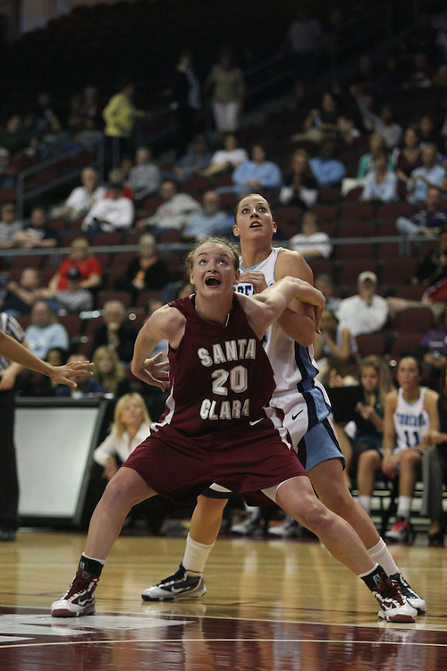 LAS VEGAS, NV - MARCH 5:  Maggie Goldenberger during Santa Clara's 68-67 win over the USD Toreros in the 2010 Zappos West Coast Conference Women's Basketball Championships on March 5, 2010 at Orleans Arena in Las Vegas Nevada.