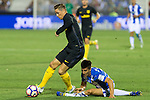 Atletico de Madrid's Fernando Torres and Club Deportivo Leganes's Unai Bustinza during the match of La Liga between Club Deportivo Leganes and Atletico de Madrid at Butarque Estadium in Leganes. August 27, 2016. (ALTERPHOTOS/Rodrigo Jimenez)