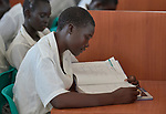 A student studying in the Loreto Girls Secondary School outside Rumbek, South Sudan. The school is run by the Institute for the Blessed Virgin Mary--the Loreto Sisters--of Ireland.