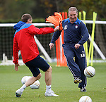 Ally McCoist and training ground devil Kirk Broadfoot