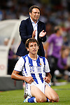 Real Sociedad's coach Eusebio Sacristan and Mikel Oyarzabal during La Liga match. August 21,2016. (ALTERPHOTOS/Acero)