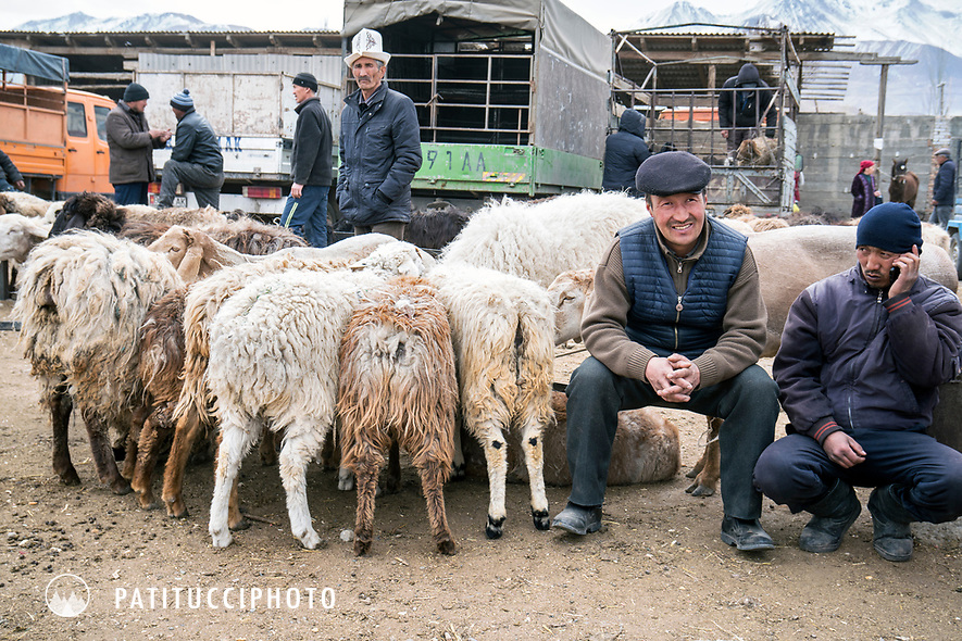 The Karakol animal market, Kyrgyzstan