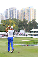 Fredrik Andersson Hed (SWE) hits his second shot on the 18th during Round 3 of the UBS Hong Kong Open 2012, Hong Kong Golf Club, Fanling, Hong Kong. 17/11/12...(Photo Jenny Matthews/www.golffile.ie)