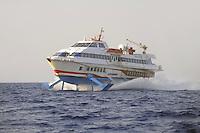 - Hydrofoil ferry of Siremar company (Tirrenia Group) on duty between Trapani and the Egadi islands....- Aliscafo della compagnia Siremar (Gruppo Tirrenia) in servizio fra Trapani e le isole Egadi
