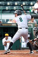 Jupiter Hammerheads first baseman Chase Austin #8 during a game against the Bradenton Marauders at McKechnie Field on June 22, 2011 in Bradenton, Florida.  Bradenton defeated Jupiter 5-4.  (Mike Janes/Four Seam Images)