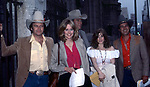 "Robert Woods, Kristen Meadows, Candice Earley and Clint Ritchie at the ""One Life To Live"" ABC TV Studios on May 1, 1981 in New York City."