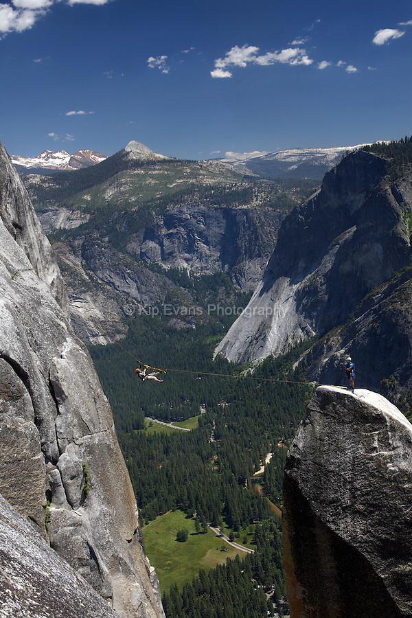 Lost Arrow Rock Climbers - Yosemite National Park, California.