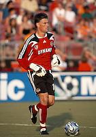 Houston Dynamo goalkeeper Pat Onstad (18).  Houston Dynamo defeated D.C. United 1-0 at Robertson Stadium in Houston, TX on July 8, 2007.