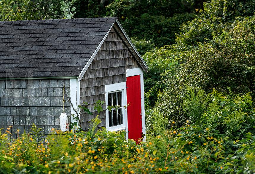 Rustic fisherman's shack, Chatham, Cape Cod, Massachusetts, USA.