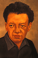 Portrait of Diego Rivera painted by Frida Kahlo, MUROS cultural centre in Cuernavaca, Morelos, Mexico. MUROS houses the Jacques and Natasha Collection of Modern and Contemporary Mexican Art.