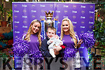 Ella Scanlon and Katie Walsh and Peter and Ciarán O'Neill Reid with the Premier League Cup in SuperValu Tralee on Wednesday afternoon.