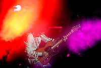 INDIO,CA - APRIL 27,2008: Prince performs at Coachella Valley Music & Arts Festival.