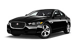 Stock pictures of low aggressive front three quarter view of 2017 Jaguar XE - 4 Door Sedan Low Aggressive