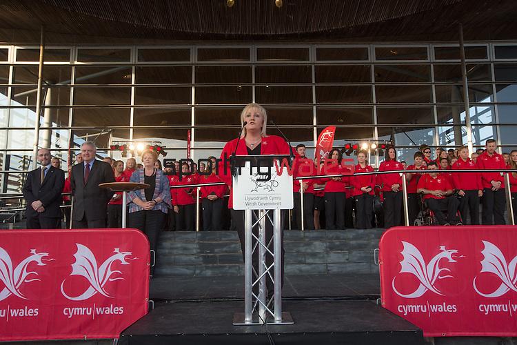 Glasgow 2014 Comonwealth Games<br /> Team Wales reception<br /> Helen Phillips<br /> Senedd<br /> 10.09.14<br /> &copy;Steve Pope-SPORTINGWALES