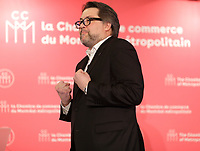 Conference de David Heurtel, ministre de l&rsquo;Immigration, de la Diversite et de l&rsquo;Inclusion devant la Chambre de commerce du Montreal Metropolitain, le Vendredi 13 avril 2018 de 11 h 30 &agrave; 13 h 30, au Centre Sheraton.<br /> <br /> <br /> PHOTO : <br />  - Agence Quebec Presse