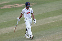 Ryan ten Doeschate of Essex leaves the field having been dismissed for 4 during Essex CCC vs Somerset CCC, Specsavers County Championship Division 1 Cricket at The Cloudfm County Ground on 28th June 2018