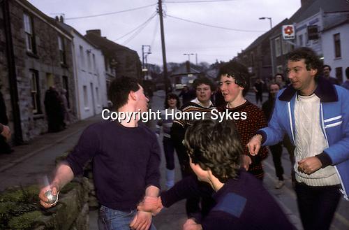 Hurling the Silver Ball St Columb Cornwall 1983 UK