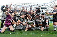 3rd November 2019; Aviva Stadium, Dublin, Leinster, Ireland; FAI Cup Womens Final Football, Peamount United versus Wexford Youth Womens Football Club; The Wexford Youths celebrate winning the first place trophy  - Editorial Use