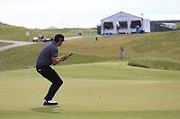 Keegan Bradley (USA) misses his putt on the 3rd green during Friday's Round 2 of the 117th U.S. Open Championship 2017 held at Erin Hills, Erin, Wisconsin, USA. 16th June 2017.<br /> Picture: Eoin Clarke | Golffile<br /> <br /> <br /> All photos usage must carry mandatory copyright credit (&copy; Golffile | Eoin Clarke)