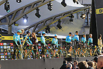 Astana Pro Team on stage at sign on before the 101st edition of the Tour of Flanders 2017 running 261km from Antwerp to Oudenaarde, Flanders, Belgium. 26th March 2017.<br /> Picture: Eoin Clarke | Cyclefile<br /> <br /> <br /> All photos usage must carry mandatory copyright credit (&copy; Cyclefile | Eoin Clarke)