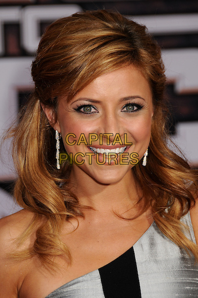 "CHRISTINE LAKIN.""Race to Witch Mountain"" Los Angeles Premiere at the El Capitan Theatre, Hollywood, California, USA..March 11th, 2009.headshot portrait dangling diamond earrings silver grey gray black one shoulder .CAP/ADM/BP.©Byron Purvis/AdMedia/Capital Pictures."