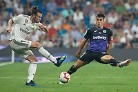 Gareth Bale of Real Madrid and Unai Bustinza of Cd Leganes during the match between Real Madrid v Cd Leganes of LaLiga, 2018-2019 season, date 3. Santiago Bernabeu Stadium. Madrid, Spain - 1 September 2018. Mandatory credit: Ana Marcos / PRESSINPHOTO