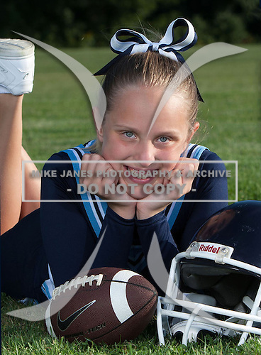 Oakfield-Elba Titans youth football and cheer photo day at Oakfield-Alabama Central School on December 12, 2014 in Oakfield, New York.  (Images Copyright Mike Janes Photography)