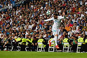 1st October 2017, Santiago Bernabeu, Madrid, Spain; La Liga football, Real Madrid versus Espanyol; Jose I Fernandez Iglesias (6) Real Madrid with the header