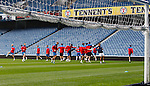 Rangers training at Ibrox before the official team picture this afternoon