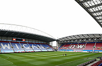A general view of the DW Stadium<br /> <br /> Photographer Andrew Kearns/CameraSport<br /> <br /> The EFL Sky Bet Championship - Wigan Athletic v Bolton Wanderers - Saturday 16th March 2019 - DW Stadium - Wigan<br /> <br /> World Copyright &copy; 2019 CameraSport. All rights reserved. 43 Linden Ave. Countesthorpe. Leicester. England. LE8 5PG - Tel: +44 (0) 116 277 4147 - admin@camerasport.com - www.camerasport.com