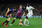 UEFA Champions League 2018/2019.<br /> Quarter-finals 2nd leg.<br /> FC Barcelona vs Manchester United: 3-0.<br /> Sergi Roberto,  Ivan Rakitic & Paul Pogba.