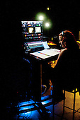 Stage Manager, dress rehearsal for Shakespeare's Macbeth, Rose Bruford College, Sidcup, Kent.