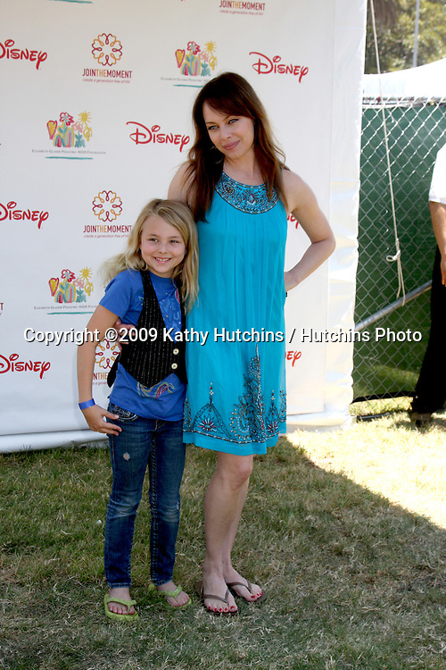 "Melinda Clarke & Daughter Kathryn Grace Mirich  arriving at ""A Time For Heroes Celebrity Carnival"" benefiting the Elizabeth Glaser Pediatrics AIDS Foundation at the Wadsworth Theater Grounds in Westwood , CA on June 7, 2009 .©2009 Kathy Hutchins / Hutchins Photo.."