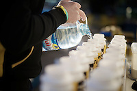 filling bidons, lots of them<br /> <br /> Team Lotto Jumbo winter training camp<br /> Moj&aacute;car, Spain, January 2015