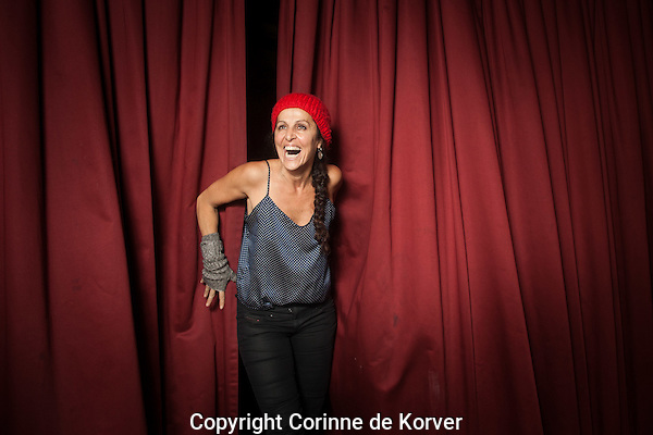 Amsterdam, 27 november 2013 International Documentary Filmfestival Amsterdam. Director Laura Bari (Ariel).<br /> Photo Corinne de Korver