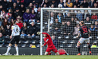 Bolton Wanderers' Remi Matthews saves from close range<br /> <br /> Photographer Andrew Kearns/CameraSport<br /> <br /> The EFL Sky Bet Championship - Derby County v Bolton Wanderers - Saturday 13th April 2019 - Pride Park - Derby<br /> <br /> World Copyright &copy; 2019 CameraSport. All rights reserved. 43 Linden Ave. Countesthorpe. Leicester. England. LE8 5PG - Tel: +44 (0) 116 277 4147 - admin@camerasport.com - www.camerasport.com