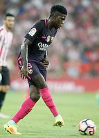 FC Barcelona's Samuel Umtiti during La Liga match. August 28,2016. (ALTERPHOTOS/Acero) /NORTEPHOTO
