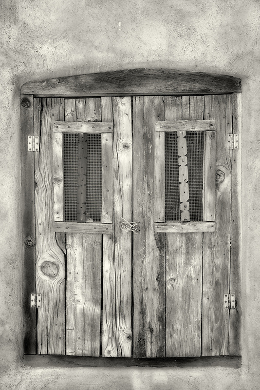 Historic old window in Taos, New Mexico.