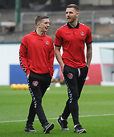 Fleetwood Town's Ashley Hunter and Ashley Eastham<br /> <br /> Photographer Kevin Barnes/CameraSport<br /> <br /> The EFL Sky Bet League One - Plymouth Argyle v Fleetwood Town - Saturday 24th November 2018 - Home Park - Plymouth<br /> <br /> World Copyright © 2018 CameraSport. All rights reserved. 43 Linden Ave. Countesthorpe. Leicester. England. LE8 5PG - Tel: +44 (0) 116 277 4147 - admin@camerasport.com - www.camerasport.com