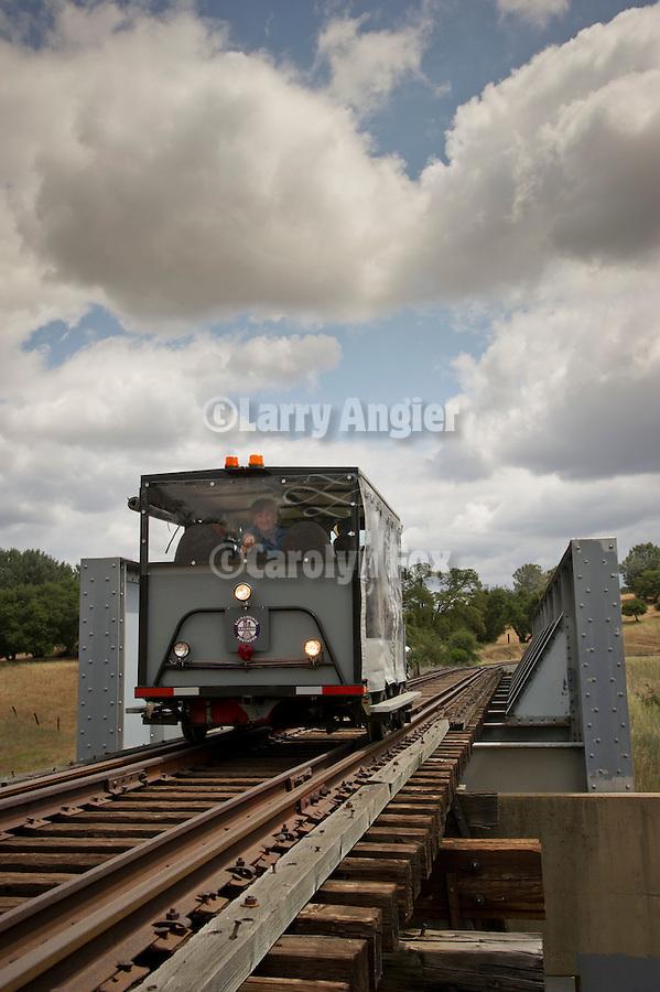 Highway 88 trestle bridge, 6th Ione Rail Fair at the Ione, California, Railyards