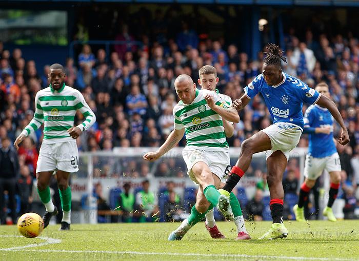 01.09.2019 Rangers v Celtic: Joe Aribo has a shot