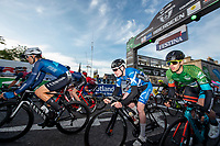 Picture by Allan McKenzie/SWpix.com - 17/05/2018 - Cycling - OVO Energy Tour Series Mens Race Round 3:Aberdeen - The peloton passes under the gantry.