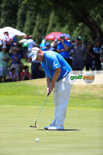 George Coetzee (RSA) in action during Round Two of the 2016 BMW SA Open hosted by City of Ekurhuleni, played at the Glendower Golf Club, Gauteng, Johannesburg, South Africa.  08/01/2016. Picture: Golffile | David Lloyd<br /> <br /> All photos usage must carry mandatory copyright credit (&copy; Golffile | David Lloyd)