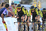 Mitchelton-Scott in action during Stage 1 of La Vuelta 2019, a team time trial running 13.4km from Salinas de Torrevieja to Torrevieja, Spain. 24th August 2019.<br /> Picture: Eoin Clarke | Cyclefile<br /> <br /> All photos usage must carry mandatory copyright credit (© Cyclefile | Eoin Clarke)