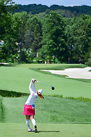Seon Woo Bae (KOR) watches her tee shot on 2 during Saturday's third round of the 72nd U.S. Women's Open Championship, at Trump National Golf Club, Bedminster, New Jersey. 7/15/2017.<br /> Picture: Golffile | Ken Murray<br /> <br /> <br /> All photo usage must carry mandatory copyright credit (&copy; Golffile | Ken Murray)