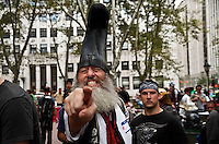 Members of the Occupy Wall Street movement Protest as they take part during their first Anniversary Celebrations in New York, United States. 11/16/2012. Photo by Kena Betancur/VIEWpress.