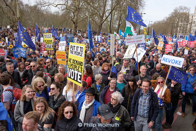 People's Vote march and rally, Park Lane, London.