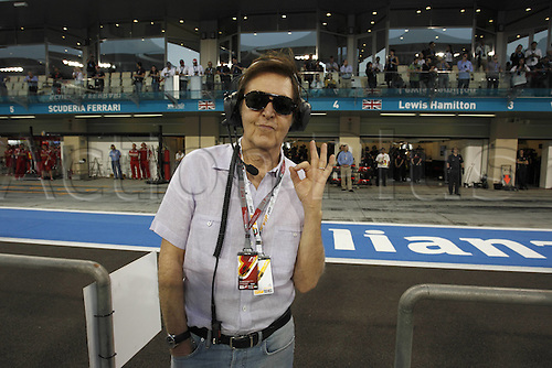 12.11.2011 Abu Dhabi, United Arab Emirates. Grand Prix of Abu Dhabi Sir Paul McCartney GBR Singer  during the qualification round of the Abu Dhabi FIA F1 Grand Prix