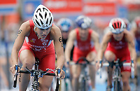 01 SEP 2007 - HAMBURG, GER - Lisa Hutthaler (AUT) - Elite Womens World Triathlon Championships. (PHOTO (C) NIGEL FARROW)